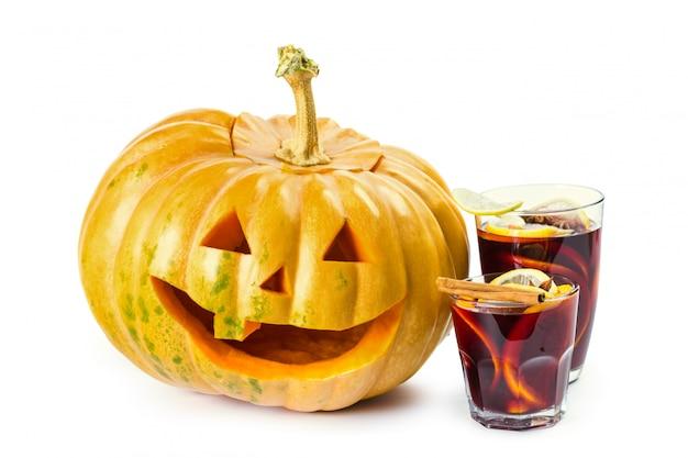 De pompoen van halloween