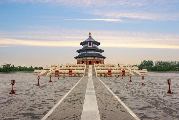 De prachtige en verbazende tempel van peking - tempel van hemel in peking, china.