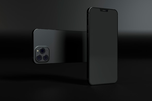 De regeling van telefoons op donkere achtergrond