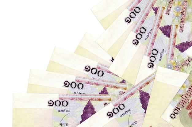 De rekeningen van cambodjaanse riels liggen in verschillende geïsoleerde volgorde