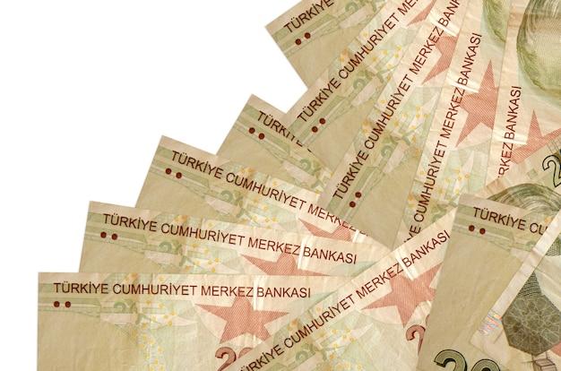 De rekeningen van de turkse lira liggen in verschillende geïsoleerde volgorde