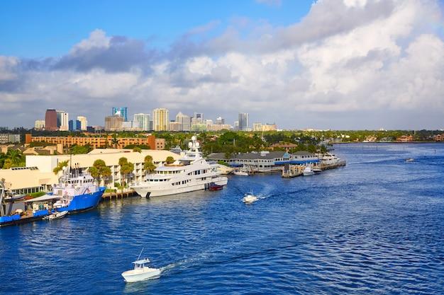 De rivier van fort lauderdale stranahan in florida