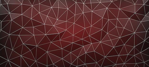 De rode 3d voronoi-diagramachtergrond, geeft terug