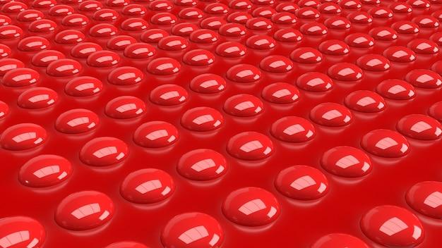 De rode knop op de glanzende afbeelding voor abstracte 3d-rendering als achtergrond