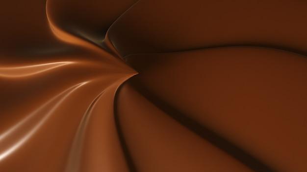 De rotatie dichte omhooggaand van de chocoladetruffel