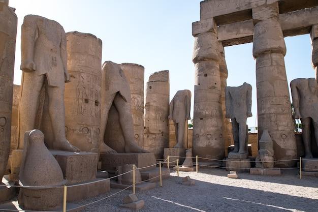 De ruïne van de tempel van luxor