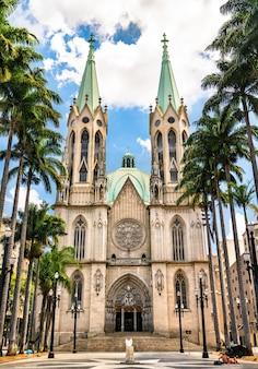 De sao paulo zie metropolitan cathedral in brazilië