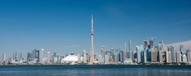 De skyline van de stad van toronto, ontario, canada