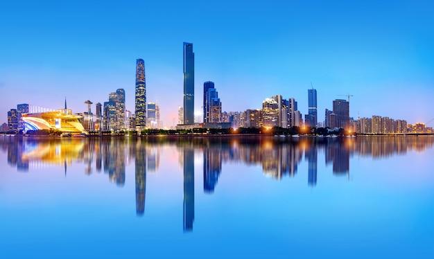 De skyline van guangzhou