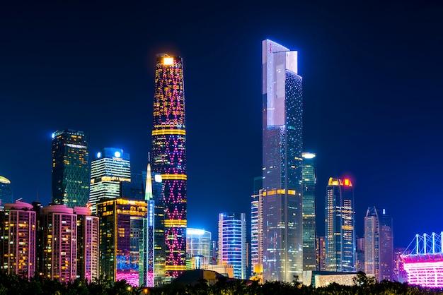 De skyline van het architecturale landschap van het stadscentrum