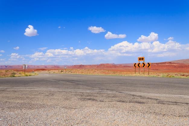 De snelweg van arizona, het landschap van de verenigde staten van amerika