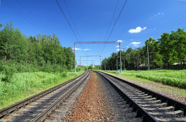 De spoorweg in kaluga, rusland
