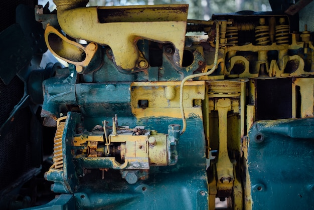 De staaldelen van machine