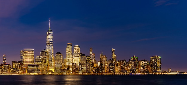 De stad lower manhattan van new york
