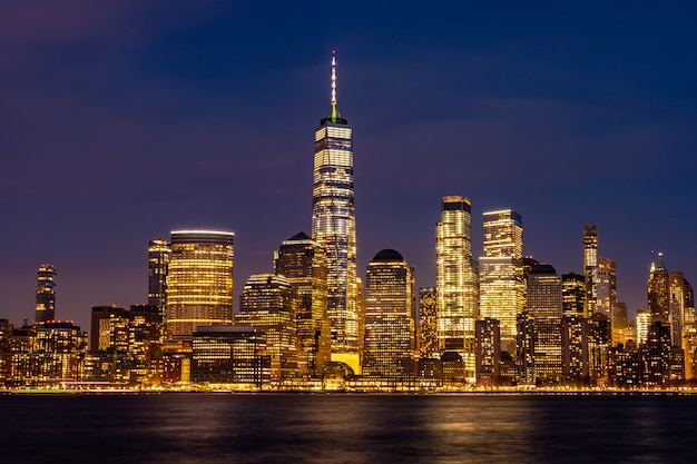 De stad lower manhattan van new york