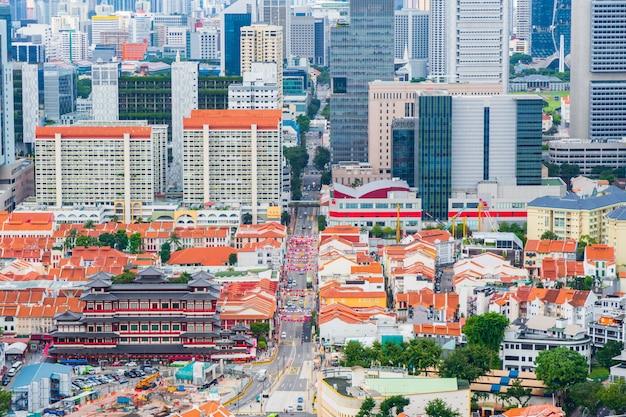 De stad singapore van china bij de tempel van het de tandoverblijfsel van boedha