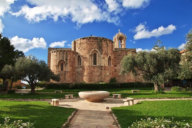 De stad van kerkbyblos, libanon