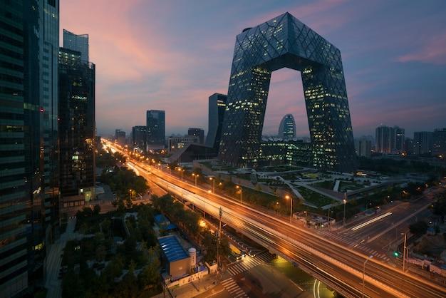 De stad van peking van china, een beroemd oriëntatiepuntgebouw, china