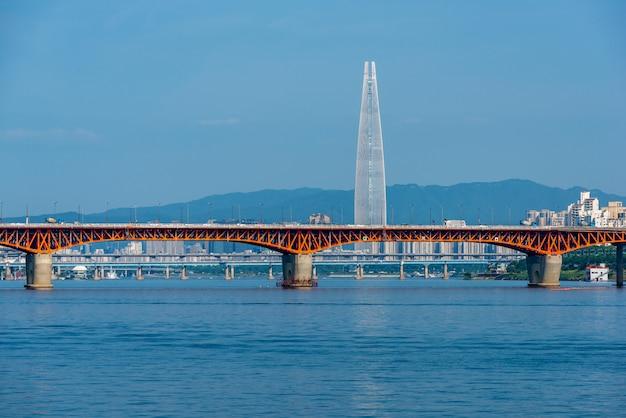 De stadshorizon van seoel, zuid-korea