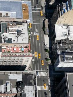 De stadsstraten van new york