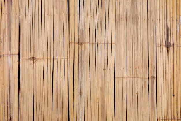 De structuur van de achtergrond bamboemuur textuur.