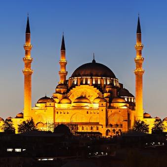 De suleymaniye-moskee is een ottomaanse keizerlijke moskee in istanbul, turkije. het is de grootste moskee van de stad.