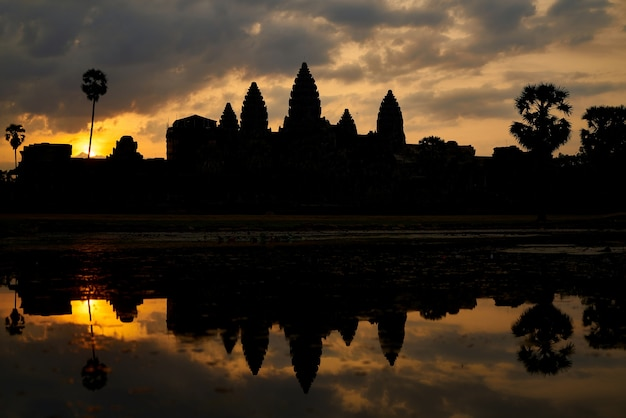 De tempel van angkor wat in cambodja