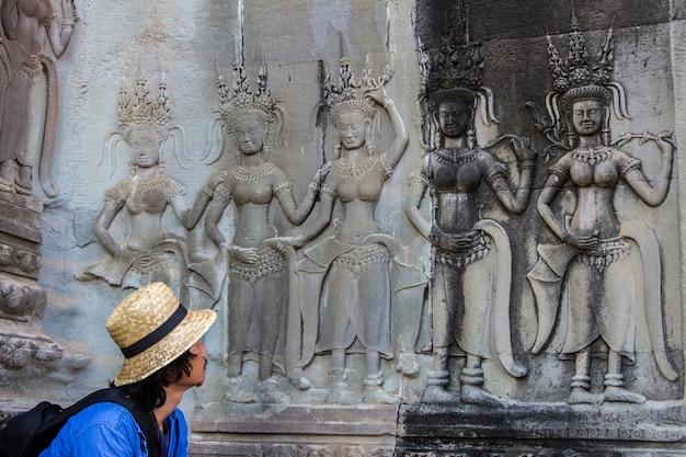 De tempel van angkor wat in siem oogst, kambodja