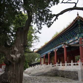 De tempel van confucius in peking, china