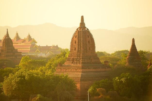 De tempels van bagan (heidense), mandalay, myanmar