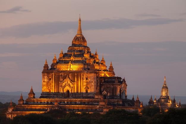 De tempels van bagan, mandalay, myanmar.
