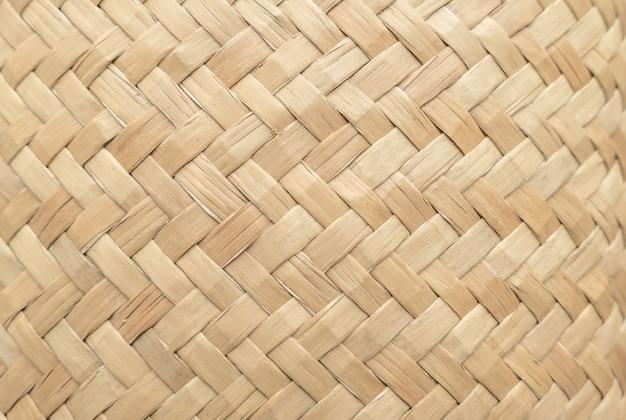 De textuur van de bamboemand voor gebruik als achtergrond. geweven mandpatroon en textuur.