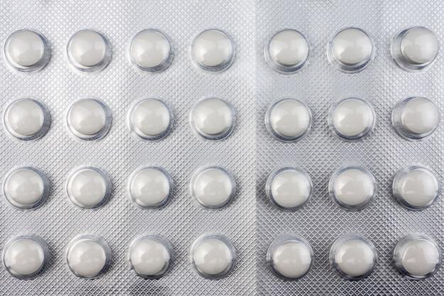 De textuur van de pillen
