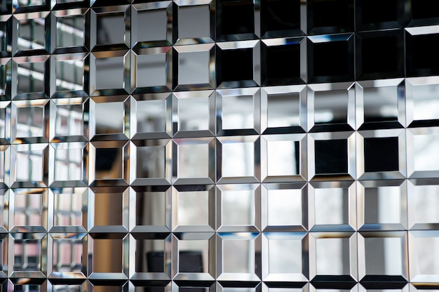 De textuur van de spiegels