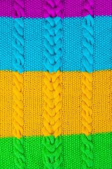 De textuur van het breisel
