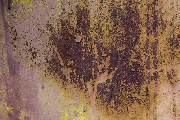 De textuur van het oude roestige metaal.