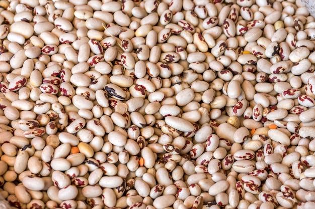 De textuur van het witte bonen gezonde voedsel.