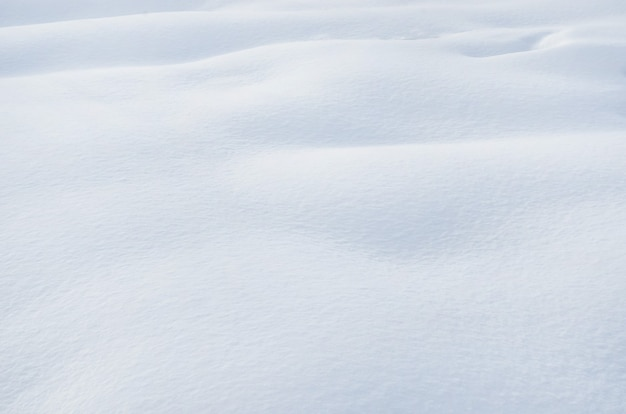De textuur van sneeuw drijft met selectieve nadruk