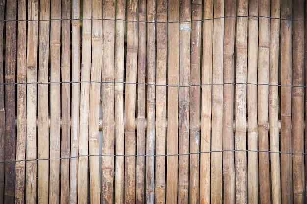 De textuurachtergrond van de bamboe houten muur