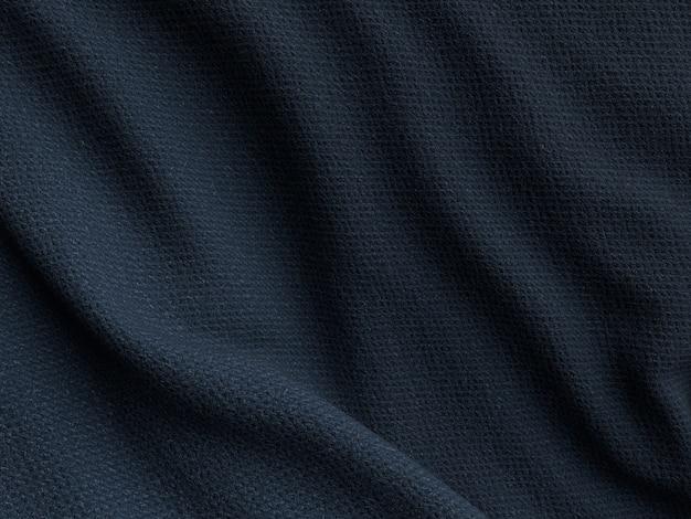 De textuurachtergrond van de zijdestof donkerblauwe kleur