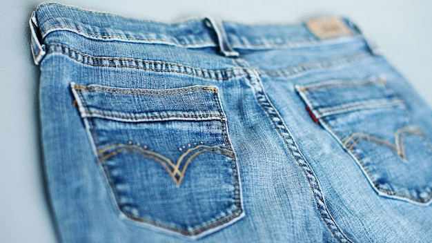 De textuurclose-up van het jeansdenim