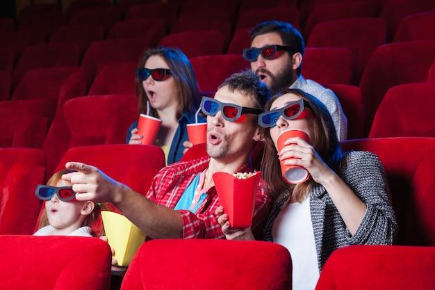 De toeschouwers in de bioscoop