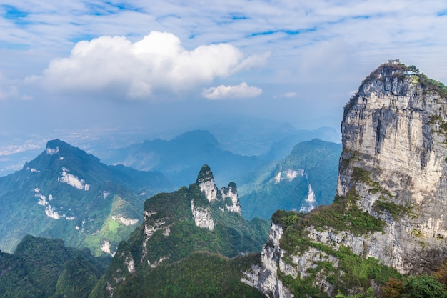 De top van tianmen-berg zhangjiagie changsha china
