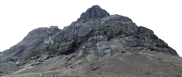 De toppen van de bergen, khibiny en bewolkte hemel