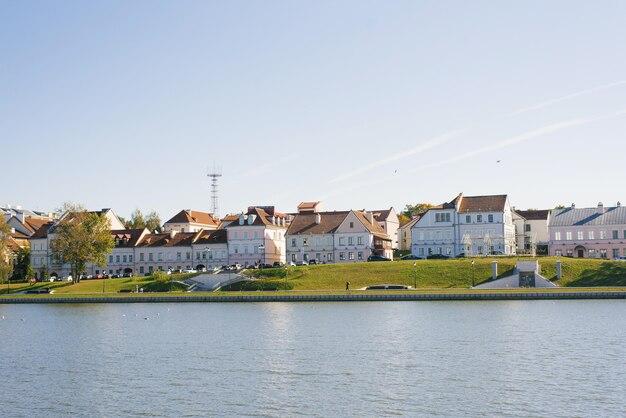 De trinity-voorstad en de rivier de svislach