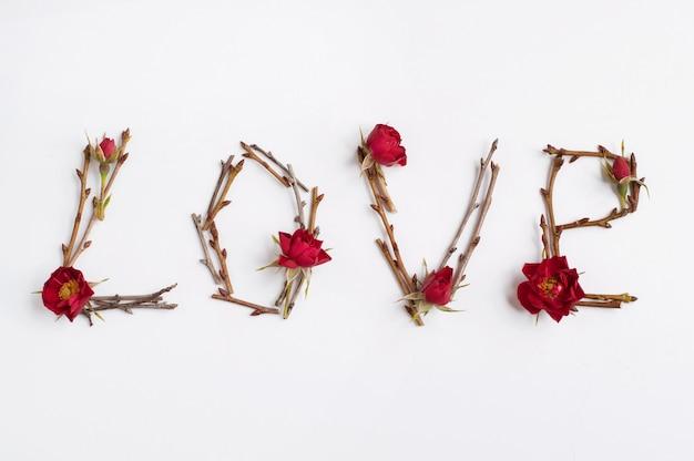 De uitdrukking liefde voor takken en bloemen