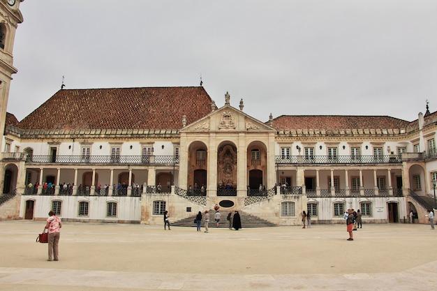 De universiteit in coimbra stad, portugal