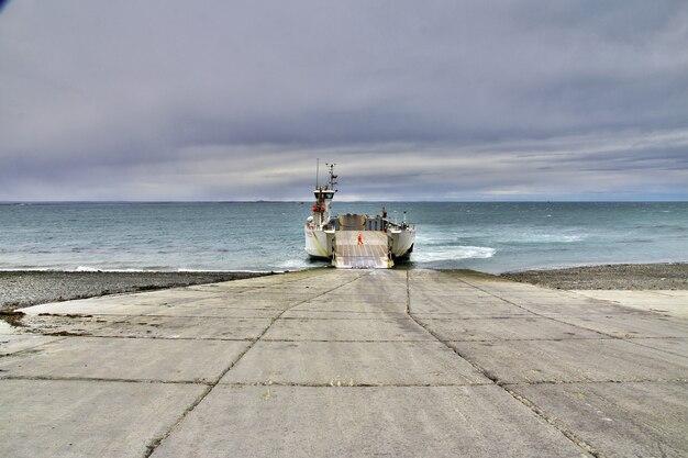 De veerboot op magelhaense straat