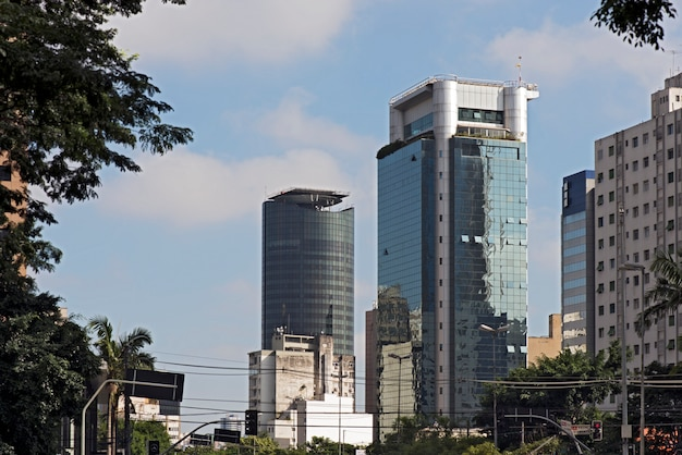 De verfijnde faria lima avenue, in sao paulo