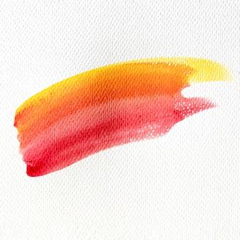 De verfvlek van de abstracte kunst warme kleur op canvas